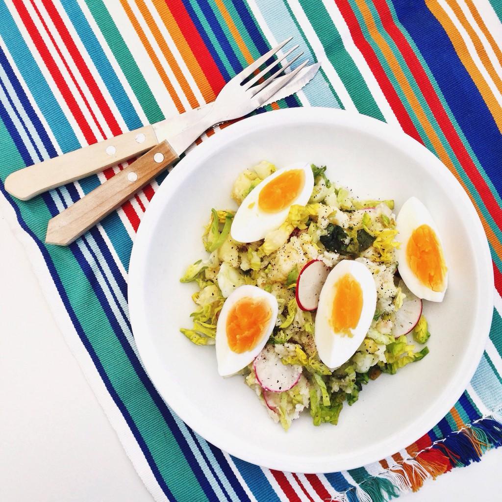 Lente stamppotje met radijs en ei, by Cookingdom