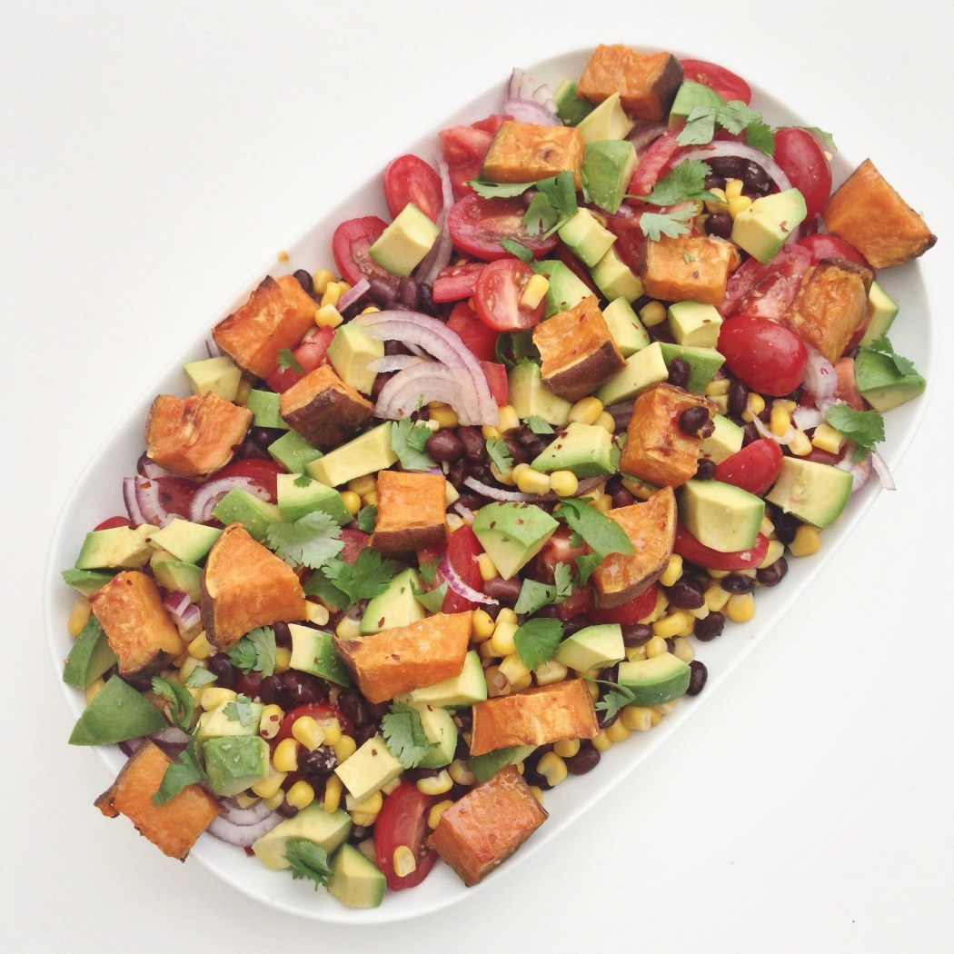 Tex-mex salade met zoete aardappel, by Cookingdom