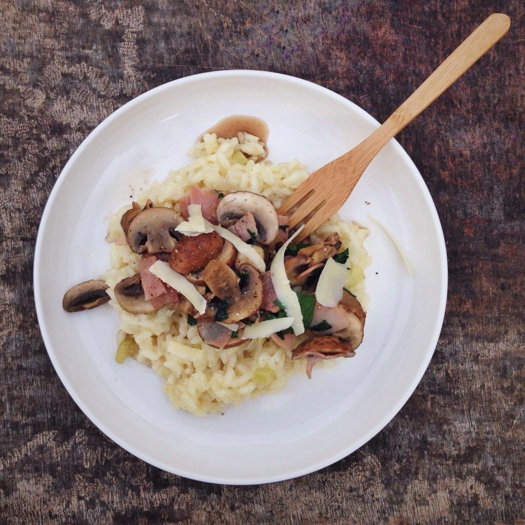 Risotto met champignons en ham, by Cookingdom