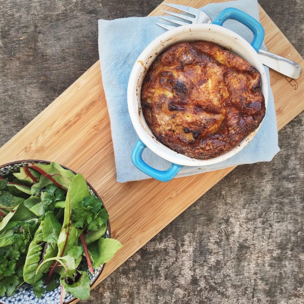 frittata met prei, appel en spekjes, by Cookingdom