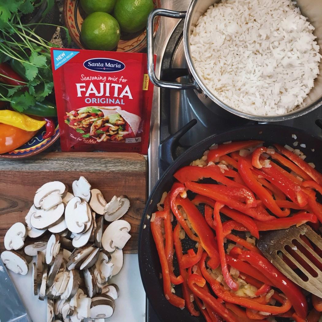 Vega fajitas met champignons