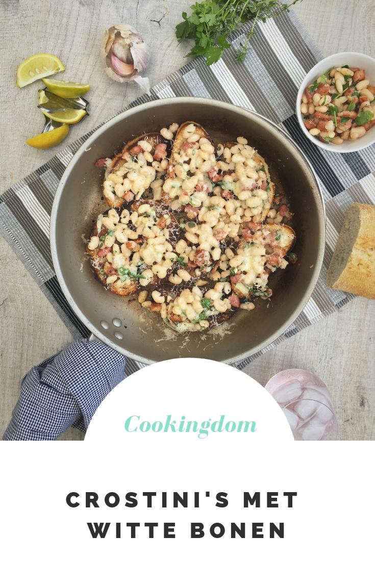 Crostini's met witte bonen uit de pan