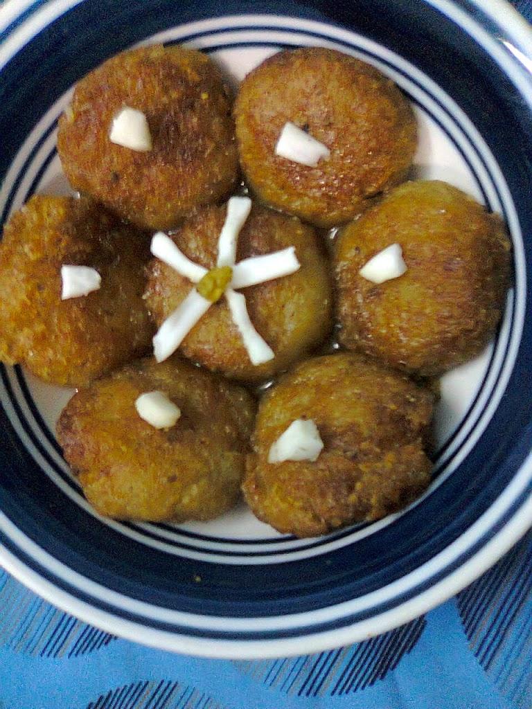 Beaten Flattened Rice Sweet Bengali Dessert Chirar Pitha