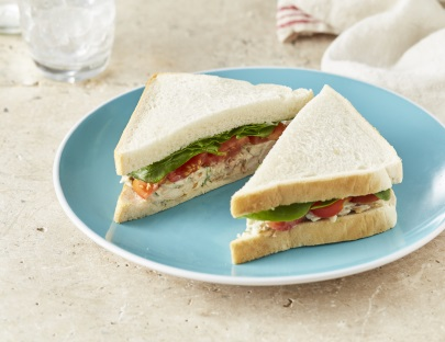 Chicken, Tomato and Baby Spinach Sandwich