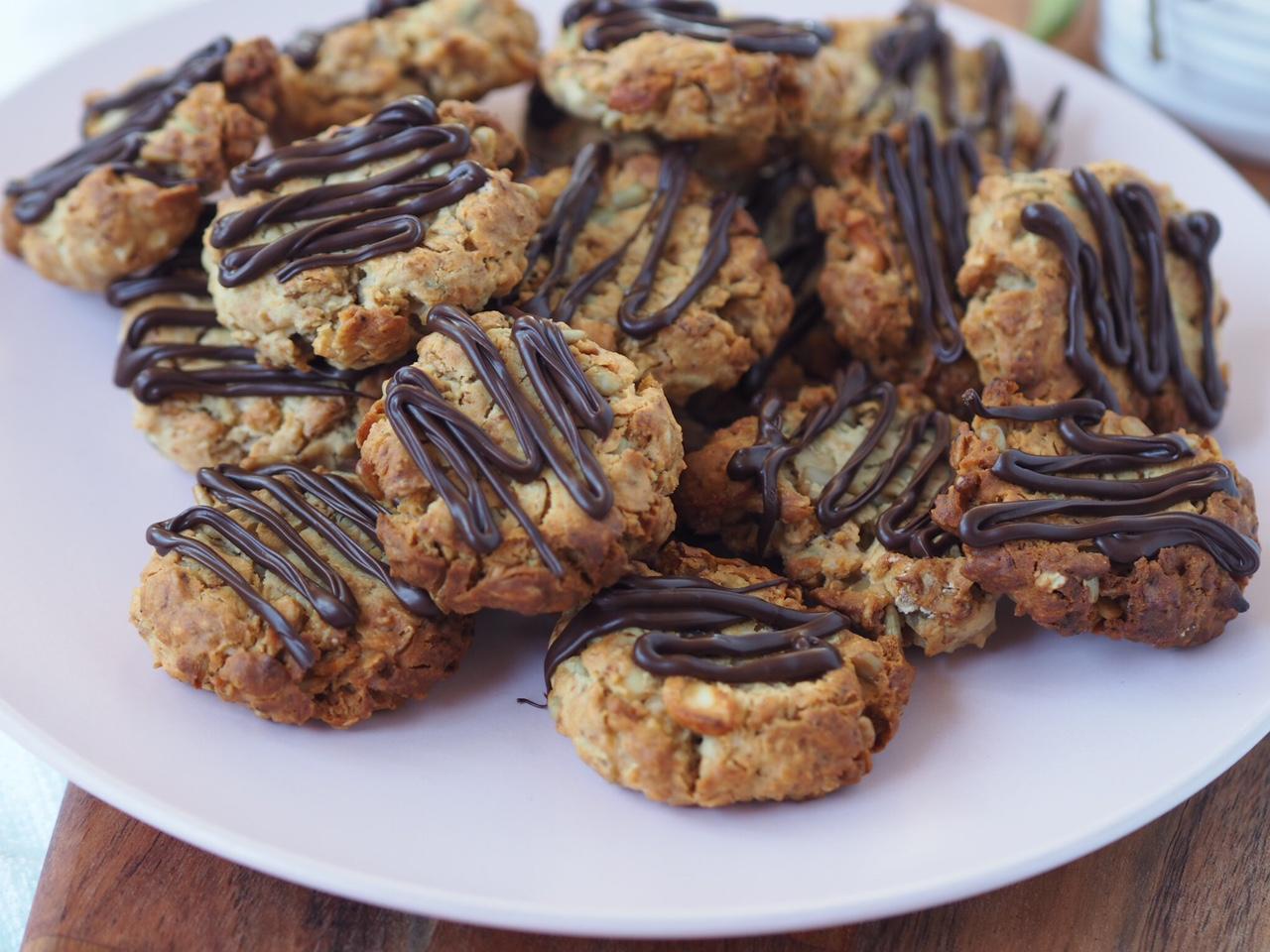 Granola Choc Drizzle Biscuits