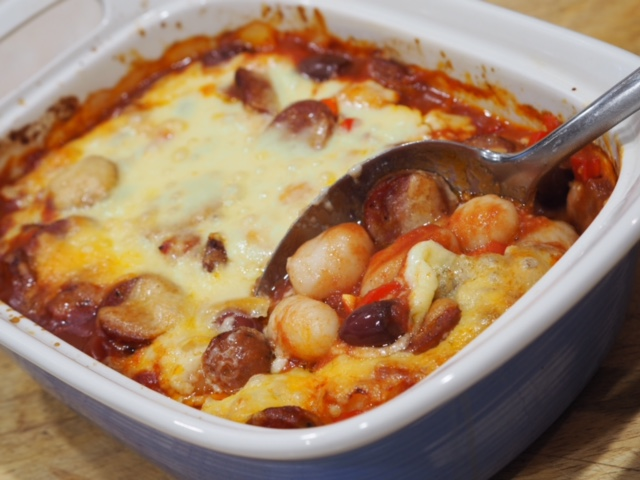 Baked Gnocchi and Chorizo