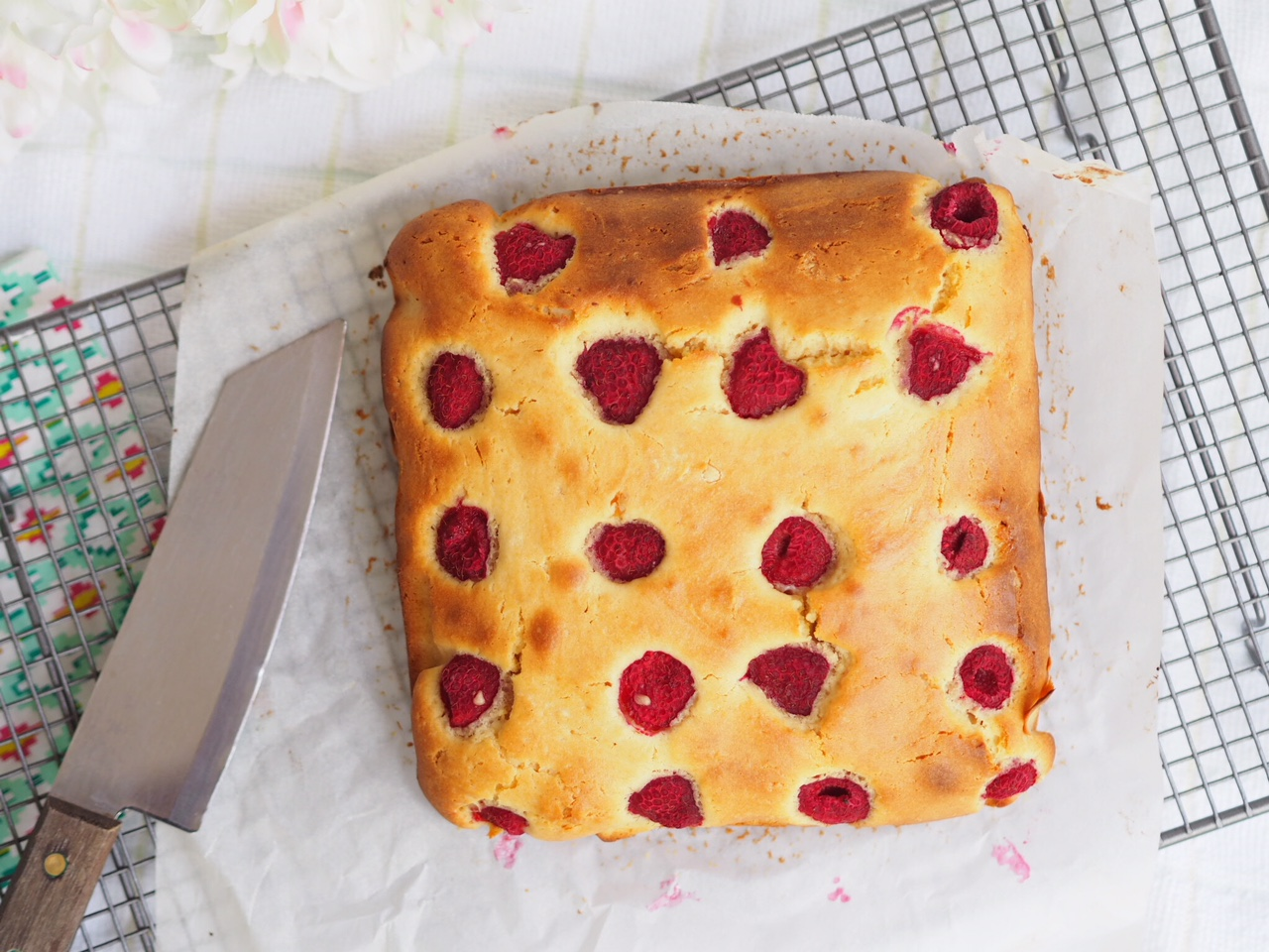 White Chocolate and Raspberry Blondies