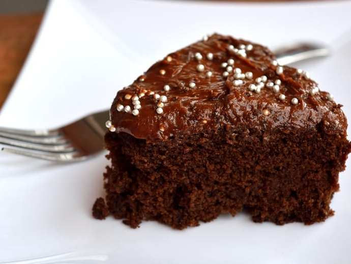 Eggless Chocolate Cake with Chocolate Cream Cheese Frosting