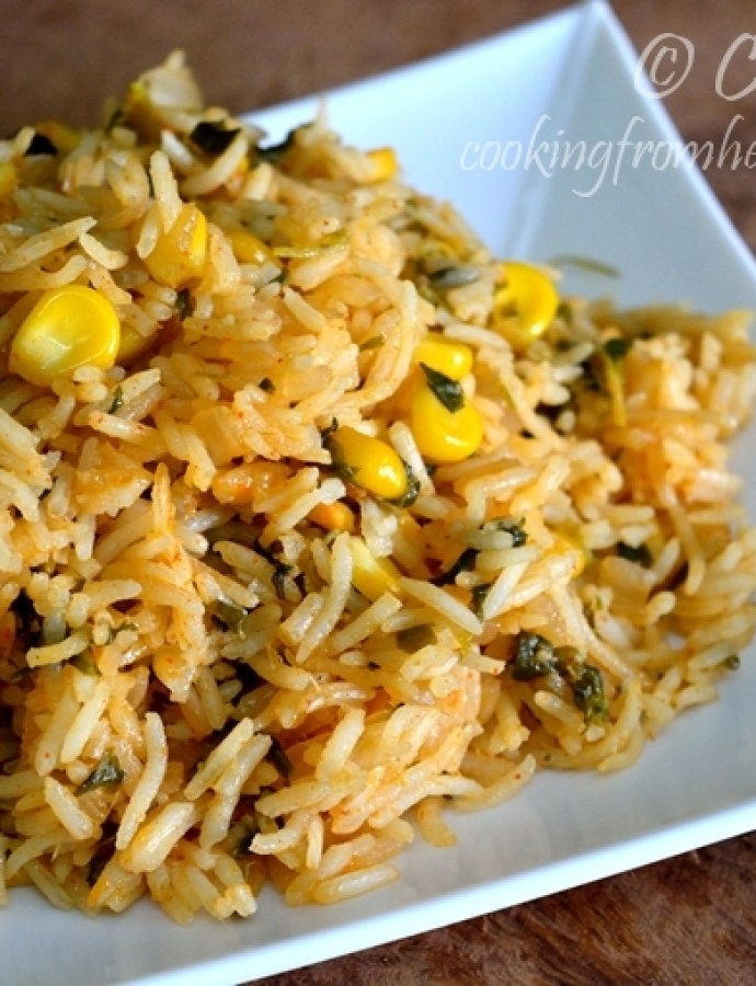 Sweetcorn Methi Pulav