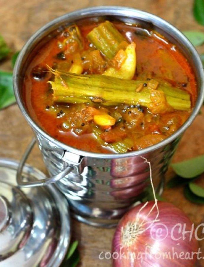 Murungaikai Karakozhambu | South Indian Drumstick Gravy