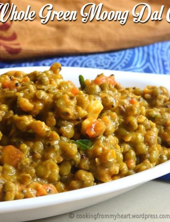 Whole Green Gram Curry | Pachai Payaru Kuzhambu | Pesara Pappu