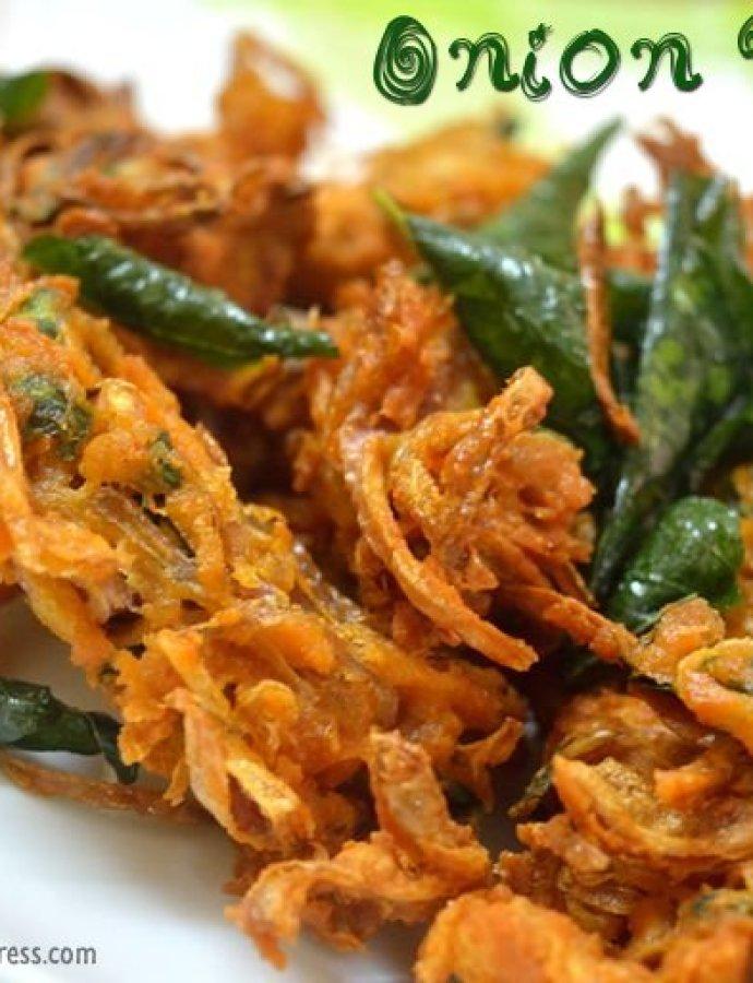 Onion Pakoda | Crispy Onion Fritters