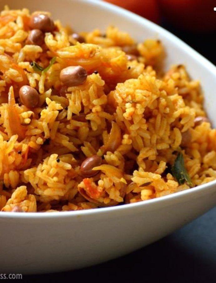 Tomato Rice | Thakkali Sadham | Quick Lunch Ideas
