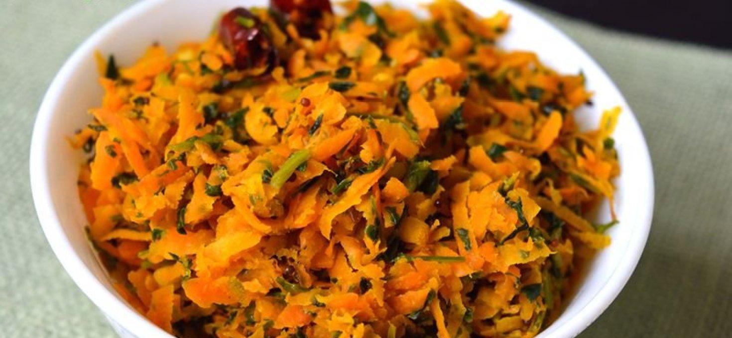 Carrot Methi Stir Fry | Easy Side Dishes