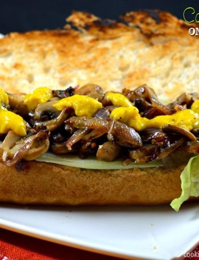 Caramelized Onion Mushroom Sandwich | Quick Dinner Ideas