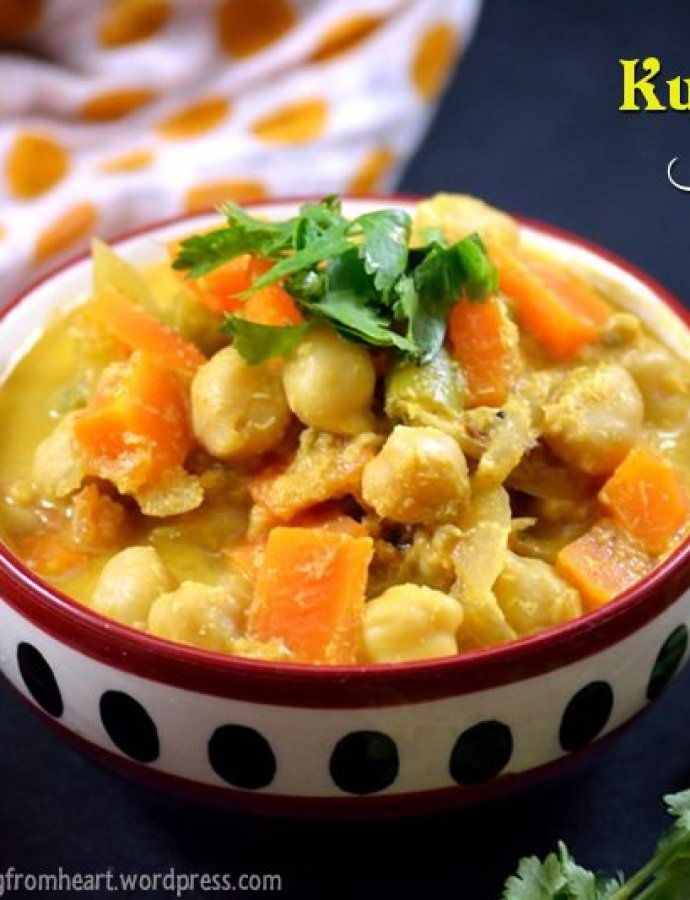 Kurma Kuzhambu | Kadalai Kurma | Chickpea Stew