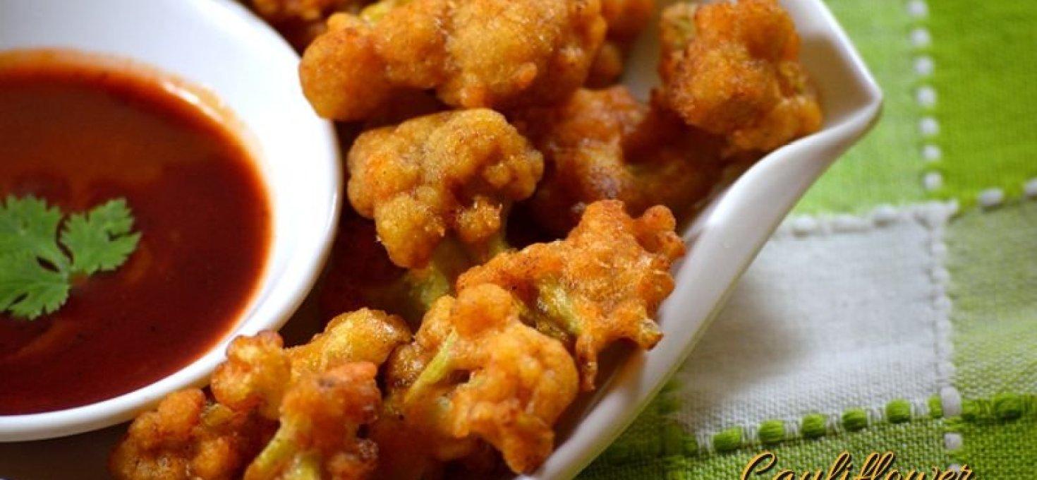 Cauliflower Pakoda | Gobi Pakoda| Crispy Fried Cauliflower