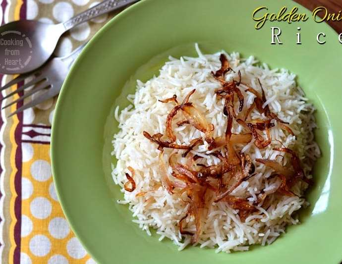 Golden Onion Rice | Onion Pulao | One Pot Meal Recipes