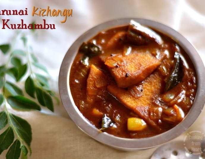 Karunai Kizhangu Kuzhambu | Karunai Puli Kuzhambu