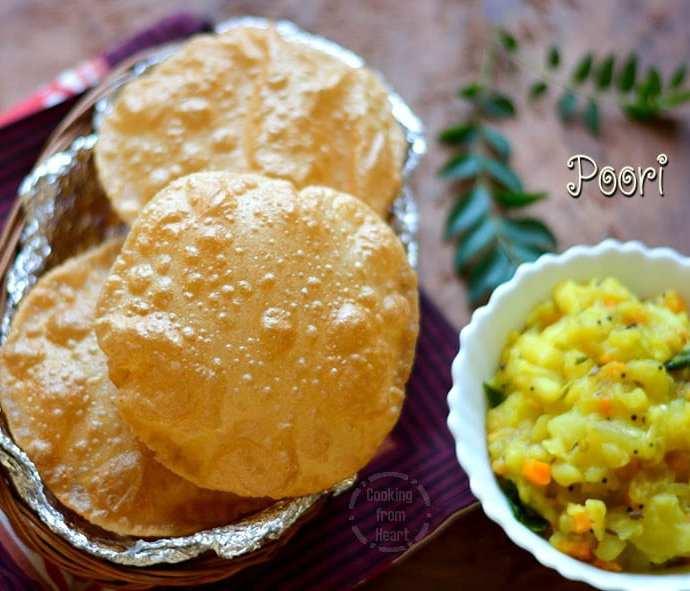 Poori | Whole Wheat Poori Recipe