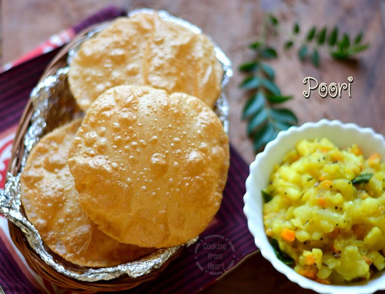 Poori | Whole Wheat Poori Recipe