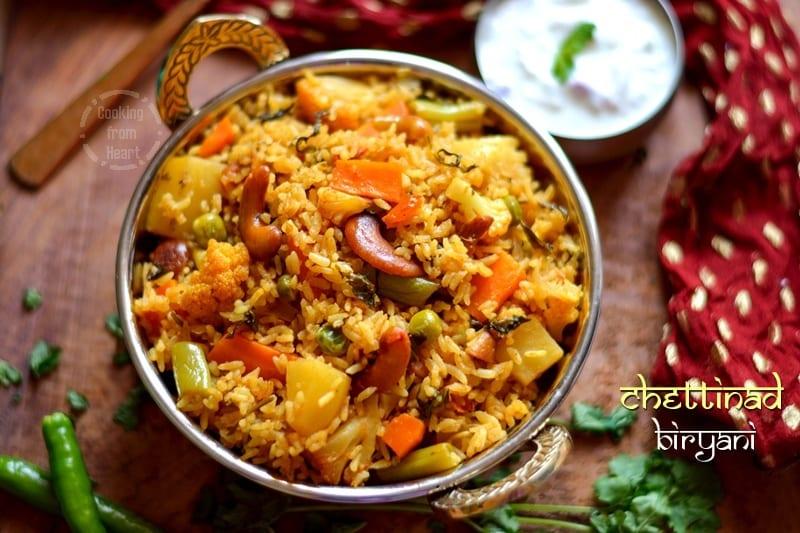 Chettinad Biryani | Chettinadu Style Vegetable Biriyani | Sunday Biryani Recipes