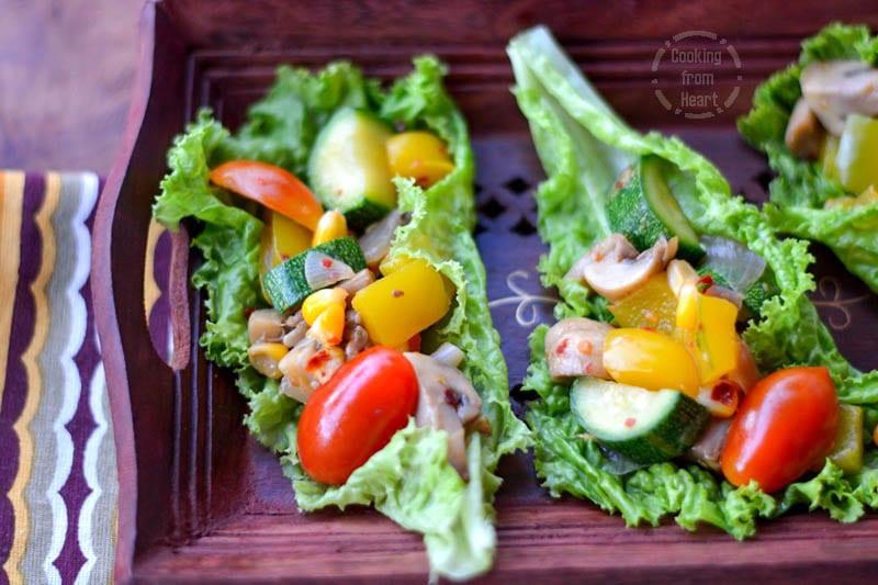 Lettuce Wraps   Quick Veggie Lettuce Wrap Salad