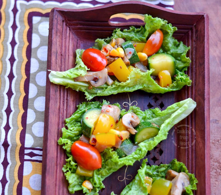 Lettuce Wrap Salad (4)