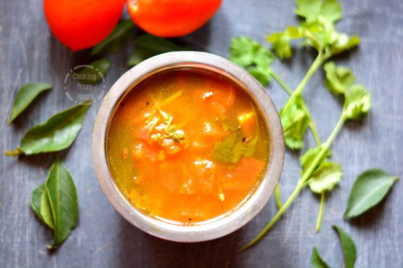 Tomato Charu   Thakkali Rasam   Andhra Charu Recipe