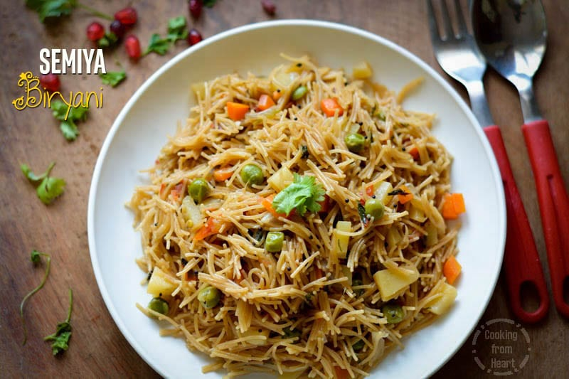 Semiya Pulao | Vermicelli Biryani | Easy Dinner Ideas