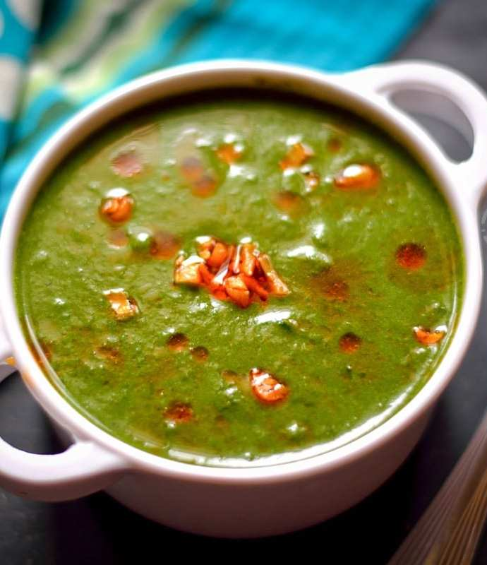 Palak Shorba   Indian Style Spinach Soup
