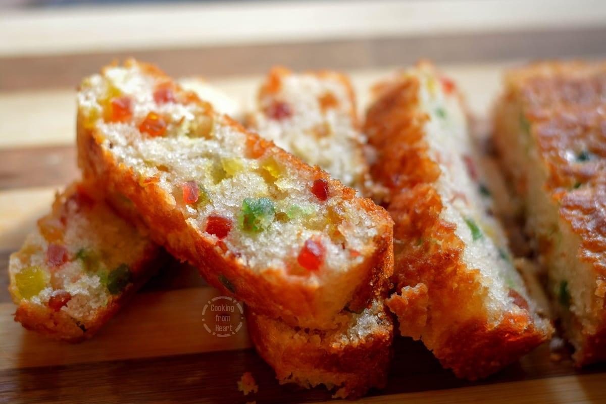Eggless Tutti Frutti Cake
