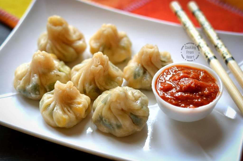 Sweetcorn Spring Onion Momos