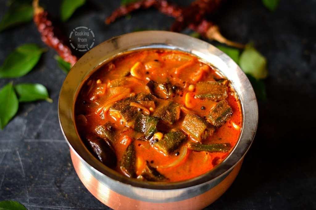 Vendakkai Puli Kuzhambu   Spicy Tangy Okra Gravy