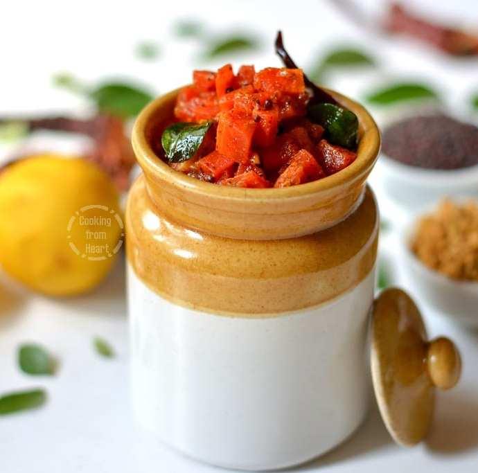 Instant Carrot Pickle | Gajar Ka Achar
