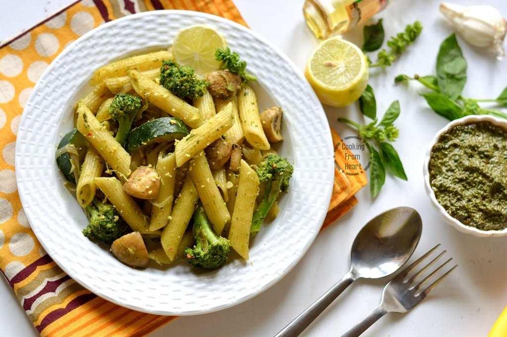 Pesto Pasta with Vegetables   Easy Vegatable Pesto Pasta