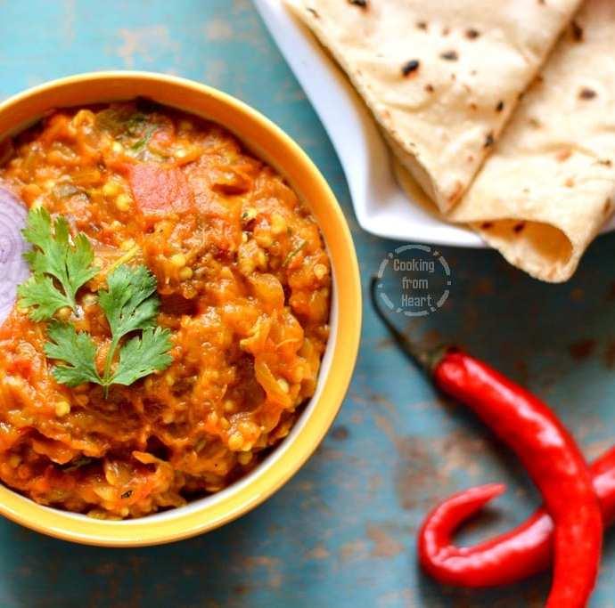 Baingan Bharta | Smoked Eggplant Curry