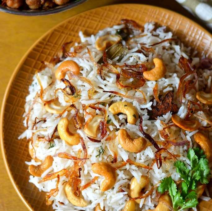 Cashew Pulao | Easy Cashew Pulav Video Recipe
