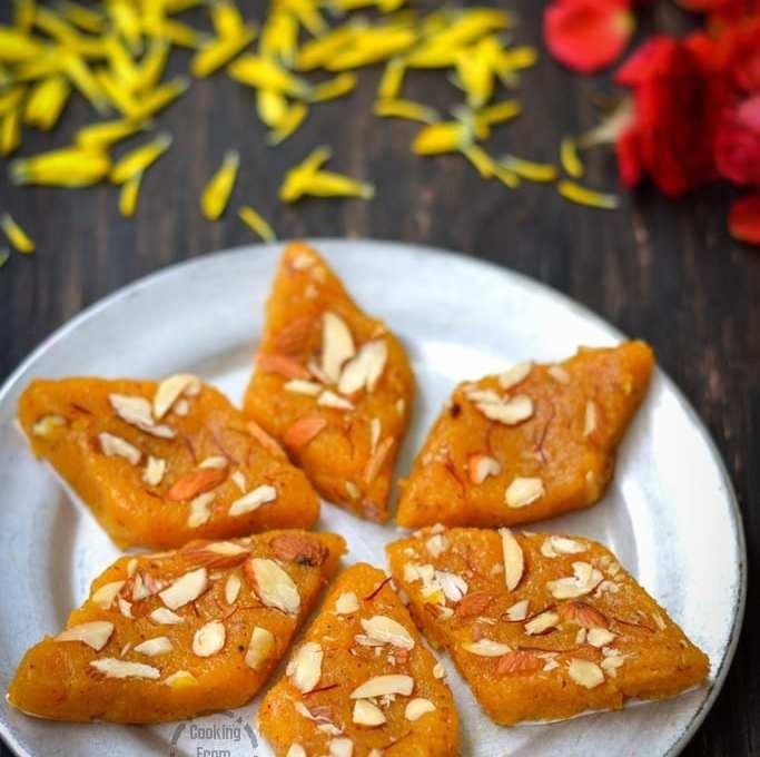 Mango Coconut Burfi   Mango Fudge