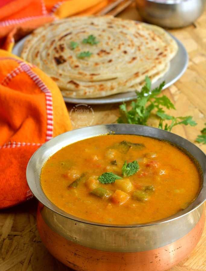Vegetable Salna | Parotta Salna