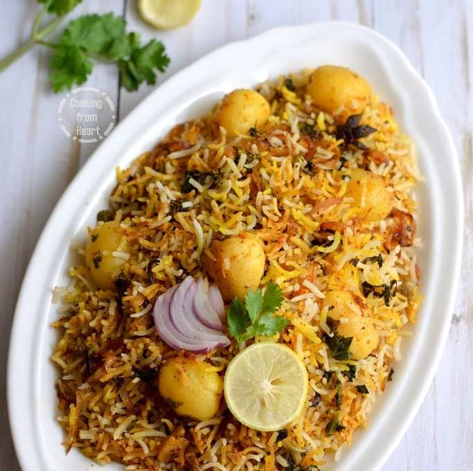 Baby Potato Hyderabadi Dum Biryani | Easy Dum Biryani Recipe in Oven