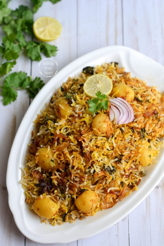 Vegetable Hyderabadi Dum Biryani
