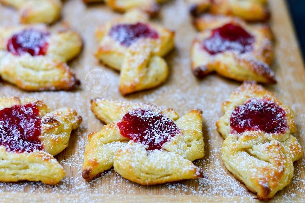 Eggless Strawberry Danish Pastry