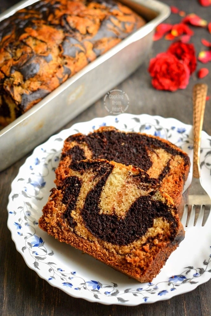 Best Eggless Marble Cake recipe