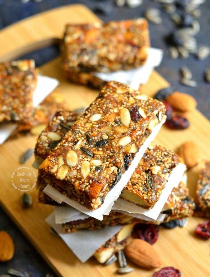 Homemade Energy Bar | Dry Fruit Energy Bar