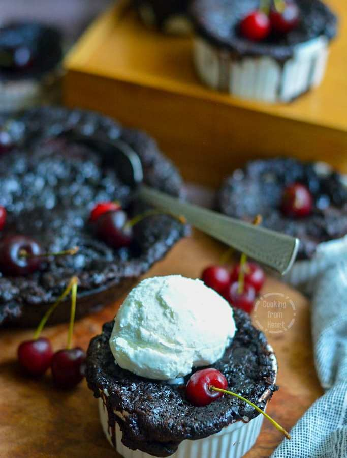 Eggless Self-Saucing Chocolate Pudding
