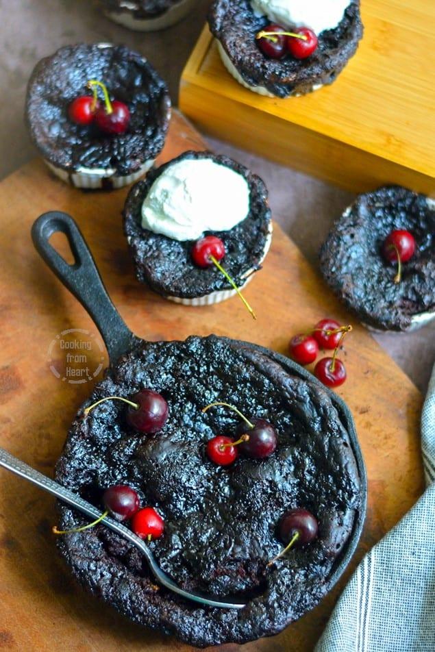 Eggless Self-Saucing Chocolate Pudding