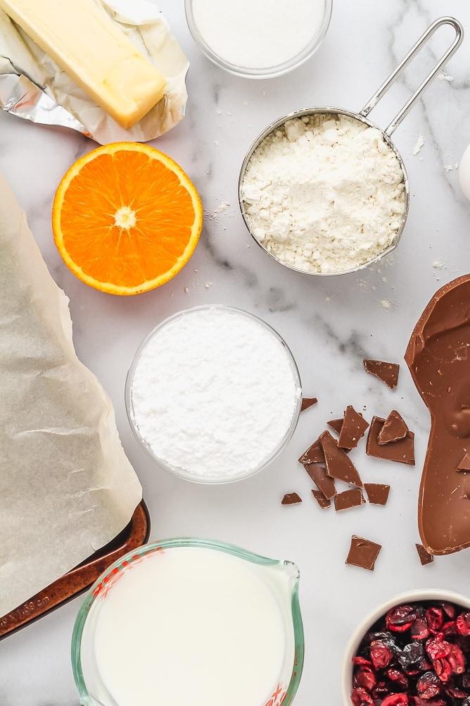 Cranberry Chocolate Scones with Orange Glaze | cookinginmygenes.com