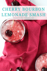 Cherry Bourbon Lemonade Smash