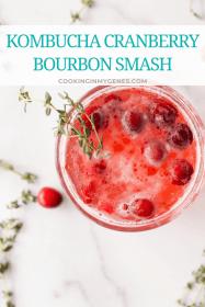 Kombucha Cranberry Bourbon Smash